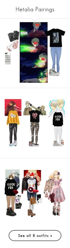 """""""Hetalia Pairings"""" by rareleey on Polyvore featuring New Look, Converse, Beats by Dr. Dre, Karl Lagerfeld, Marciano, WithChic, Vans, Paige Denim, Steve Madden and Sans Souci"""