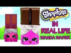 WANDA WAFER Shopkins in Real Life Season 3 Surprise Toy Friends - YouTube use kitkat bars and decorate to look like wanda wafer.