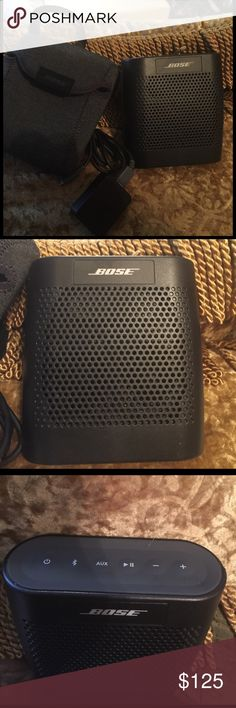 *SALE* BOSE SOUNDLINK BLUETOOTH SPEAKER Bose PreOwned Soundlink Bluetooth Model #415859 Aux speaker Comes with case for it Comes with charger USB and Wall charger Great condition! Please see photos for additional details. Thanks and Kind Regards BOSE Accessories
