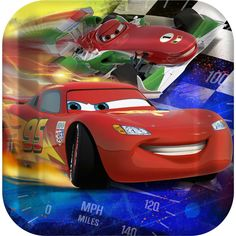 Disney Cars Dream Party Square Dinner Plates from BirthdayExpress.com