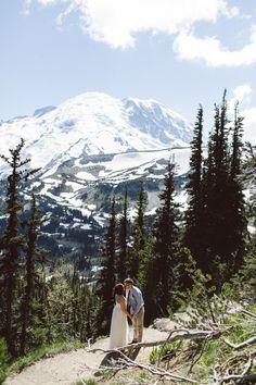Jess Hunter photography, Seattle mountain elopement photographer, Mt. Rainier elopement in Washington state, epic wedding locations, best elopement photography, Pacifc Northwest wedding, adventurous elopement, hiking in a wedding dress,