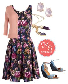"""""""I Rest My Grace Dress in Terrace"""" by modcloth ❤ liked on Polyvore featuring Seychelles"""