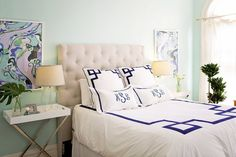 Meg's Classic Glamor Apartment: a little too preppy for me altogether but I like the individual elements