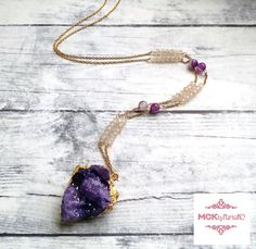 Hey, I found this really awesome Etsy listing at https://www.etsy.com/listing/263797256/druzy-necklace-amethyst-agate-necklace