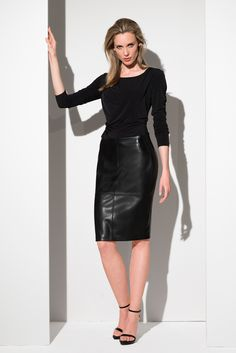 Rock Outfits, Leather Skirt, Elegant, Spring 2016, Sexy, Skirts, Beauty, Beautiful, Tops