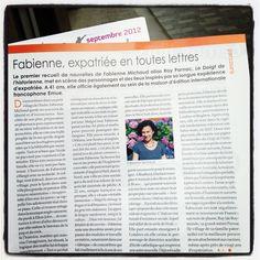 'Expatriée en toutes lettres', mon portrait est à la page 11 du magazine Ici Londres de septembre  http://www.ici-londres.com