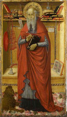 Bartolomeo Caporali - San Girolamo nello studio, dettaglio - Museo di Capodimonte, Napoli