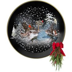 Christmas Plate by suelb on Polyvore featuring art, decor, artset, creativesets and artscape
