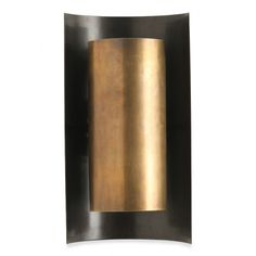 """Finishes: - Antiqued Brass and Bronze  Constructed from: Patinated Brass  Height: 16"""" Width: 8.75"""" Projection: 6""""  <<UL/CUL LISTED>>"""
