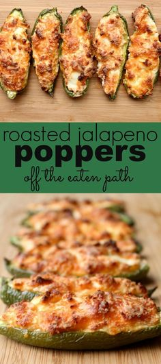 roasted jalapeno poppers are a spin on the classic appetizer, with tons of flavor and cheese! Roasted jalapeno poppers are a spin on the traditional favorite. Still full of flavor and cheese, making them perfect for your game day spread! Low Carb Appetizers, Appetizer Recipes, Cheese Appetizers, Appetizer Ideas, Spanish Appetizers, Cheese Dips, Cheese Snacks, Low Carb Recipes, Cooking Recipes