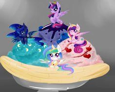 Royal Ice Cream by on DeviantArt All My Little Pony, My Little Pony Twilight, My Little Pony Pictures, My Little Pony Friendship, Princess Celestia, Princess Luna, Mlp, My Little Pony Wallpaper, Nightmare Moon