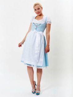 Like something a Disney princess might wear: Limberry Trachten - Zuckerfee. #dirndl #dress #German #Austrian #folk #traditional #costume #Oktoberfest #blue