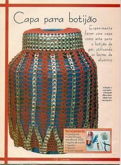 Roberta Crochê e Cia: Capa para botijão com lacres