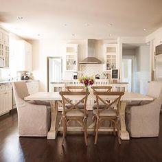 Bock Esstische, Tischbank, Esszimmertische, Übergangsküche, Stoff Stühle,  Hausumbau, Küchenumbau, Küchen