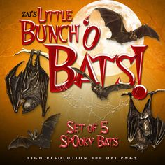 A spooky little set of postwork bats for all your Halloween scrapbooking and renders..PLUS matching scrapbook papers to coordinate with your Halloween scrapbook layouts…