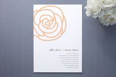 Bloom Wedding Invitations by Sydney Newsom at minted.com  cute