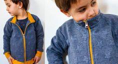 Návod jak ušít dětskou mikinu na zip (FOREST) – Prošikulky. Bomber Jacket, Athletic, Sweatshirts, Sweaters, Jackets, Fashion, Down Jackets, Moda, Athlete