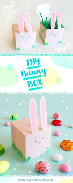 Happy Easter, Easter Bunny, Ostergeschenk Diy, Crafty Kids, Collage, Free Printables, Graffiti, Xmas, Place Card Holders
