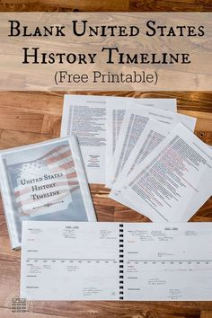 Make learning American History hands-on and fun with this blank United States History Timeline. This interactive study tool divides events into the categories: politics, economics, judicial system, co American History Lessons, World History Lessons, British History, Teaching American History, European History, History Activities, Teaching History, History Education, Teaching Kids
