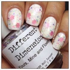 Yours, Mine & Flowers (Glitter Topper) - Different Dimension.