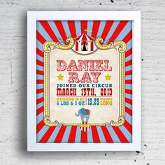 Hey, I found this really awesome Etsy listing at http://www.etsy.com/listing/126065410/11-x-14-printable-circus-carnival-birth