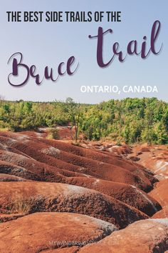 Looking to get outside for fresh air? Looking to start hiking the Bruce Trail and not sure where to start? These 14 side trails are the perfect way to explore the Bruce Trail. Go Hiking, Hiking Trails, Cheltenham Badlands, Canadian Travel, Canadian Rockies, Cotswold Way, Ontario Place, Ontario Travel, Hiking Essentials