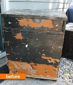 Before & After: Rescuing a Dumpster Dive Dresser — Art is Beauty