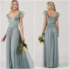 Green Embellished Maxi Dress Bridesmaid Gown Wedding Prom Ruffle Frill Sleeve UK Gown Wedding, Wedding Dresses, Bridesmaids, Bridesmaid Dresses, No Frills, Egg, Prom, Clothes For Women, Green
