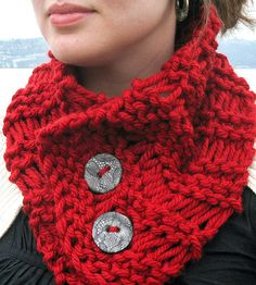 Chunky Red Cowl Scarf | This cranberry red cowl is just the companion required for the... | Scarves & Shawls
