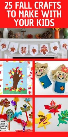 Fall crafts for kids! 25 different fall craft ideas for kids to make at home or at preschool. Autumn crafts for toddlers, preschoolers, and even up through tweens. 25 fun autumn crafts for your kids. Check them out! #fallcrafts #fallcraftsforkids #autumncrafts #kidscrafts #kidsactivities #parenting Cheap Fall Crafts For Kids, Fall Crafts For Toddlers, Easy Fall Crafts, Craft Activities For Kids, Toddler Crafts, Preschool Crafts, Holiday Crafts, Crafts To Make, Fun Crafts