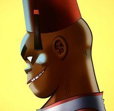 Phase 4 Russel by Jamie Hewlett Russel Hobbs, Russel Gorillaz, Super Power Girl, Jamie Hewlett Art, Gorillaz Art, Gorillaz Wiki, Monkeys Band, Vince Staples, Demon Days