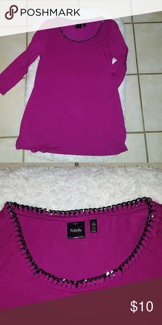 Rafaella knit top NWT Knit with  beautiful working around the neck Very warm and vibrant color Shoes sold separately..NWOT $10 Rafaella Tops