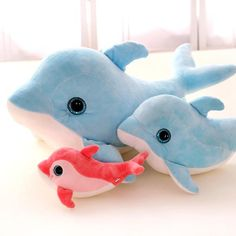 New Style Dolphin Whale Plush Toys Stuffed Animal Doll Toy Soft Plush Pillow Children Gifts Girls Birthday Gift Be Novel In Design Dolls & Stuffed Toys