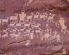 Petroglyphs Prehistoric Cave Paintings Rainbow Park, Utah