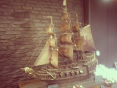 Boat made entirely out of chocolate!