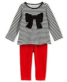 First Impressions Baby Girls' Bow T-Shirt & Velour Leggings, Only at Macy's