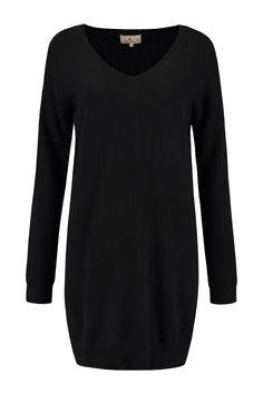 Deze Jurk of lange pullover is cashmere, de fit is iets rechter. Cashmere Dress, Fit, Sweaters, Black, Dresses, Fashion, Long Sweaters, Vestidos, Moda