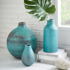 Made from ceramic earthenware with a slightly glossy finish, our oversized rustic vase adds a welcome pop of colour to any mantel, shelf or tablescape. Colour variation is pretty common as a result of the unique glazing process — so no two are alike.