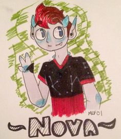 Here's my half of the art trade! I did the Trixolian Nova ( •3•) I apologize for the errors (ex. I totally forgot the necklace) other than that, I hope you like it!