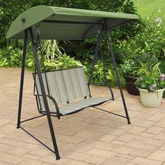 Outdoor Porch Swing Canopy Patio Furniture Seat Sling Bed Garden Chair  Backyard #Mainstays