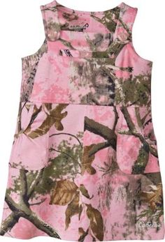 Even in this cute 100% cotton, jumper-style Infant/Toddler Girls' dress, your little girl can sport the Cabela's camo style. Features Cabela's logo buttons, shoulder straps, a welt chest pocket and two patch pockets. Screened logo. Sizes: 0-3 mo., 3-6 mo., 6-12 mo., 12-18 mo., 2T, 3T, 4T. Camo patterns: Cabela's Zonz™ Woodlands Pink, Realtree APC™ (Pink)