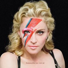 Madonna David Bowie Makeup for RIP DAVID BOWIE 10 January 2016