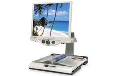 Electronic magnifiers with large screens  can be adjusted for font size, brightness and contrast can make it possible for those with AMD to continue reading.