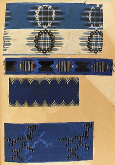 Textile sample book, 19th Century France