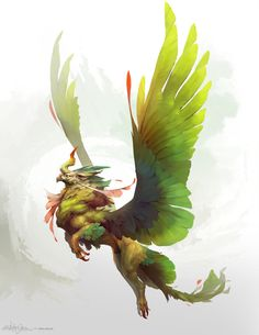 Creature Design - Jungle Griffin by ChristopherOnciu on DeviantArt