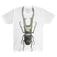Stag Beatle by Robert Bowen Sublimination Men's V-Neck T-Shirt