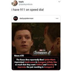 This is a book of one shots about Peter Parker and the Avengers. I've… Fanfiction This is a book of one shots about Peter Parker and the Avengers. Funny Marvel Memes, Dc Memes, Avengers Memes, Marvel Jokes, Avengers Imagines, Loki Thor, Marvel Dc Comics, Marvel Avengers, Avengers Cast