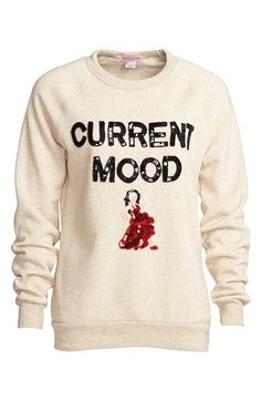 Free shipping and returns on Bow & Drape 'Current Mood' Sequin Sweatshirt (Women) at Nordstrom.com. Feel like dancing,but love snuggling up in your coziest sweats? This delightful raglan sweatshirt—cut from deliciously soft French terry in a just-right fit, and spangled with a sassy,sequined flamenco dancer—fitsthe bill on both counts.