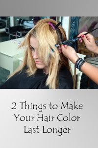 2 things to make your hair color last longer
