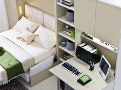 Mueble modular de pared con cama abatible NUOVOLIOLÁ 10 by CLEI | diseño Pierluigi Colombo